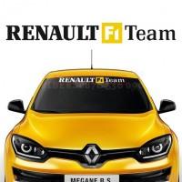 Sticker windshield for Renault F1 Team