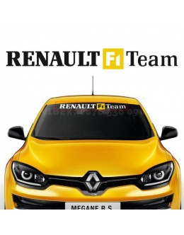 Sticker windshield for Renault F1 Team