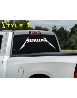 Metallica Decal, sticker for car window